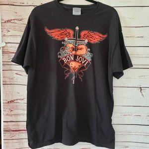 Bon Jovi concert t shirt large tour hanes